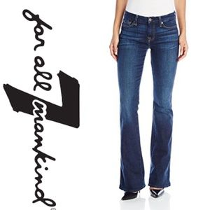 Seven for all Mankind Pink Flare Dark wash jeans